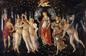 Sandro Botticelli – A tavasz (203x314 cm; olaj/vászon)